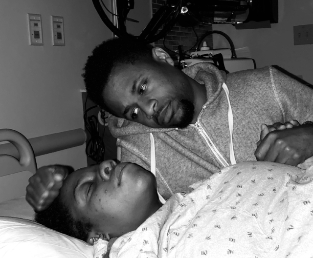 Childbirth with mom and dad