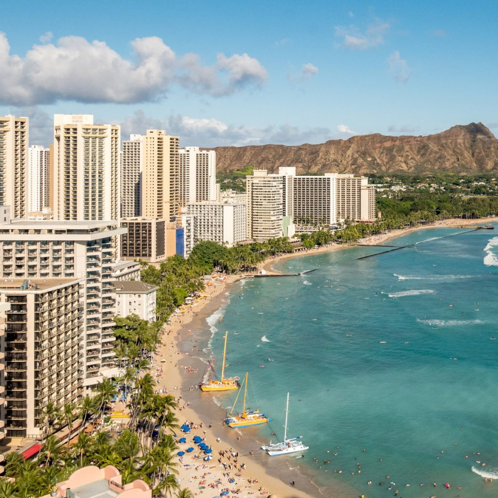 Honolulu beach view