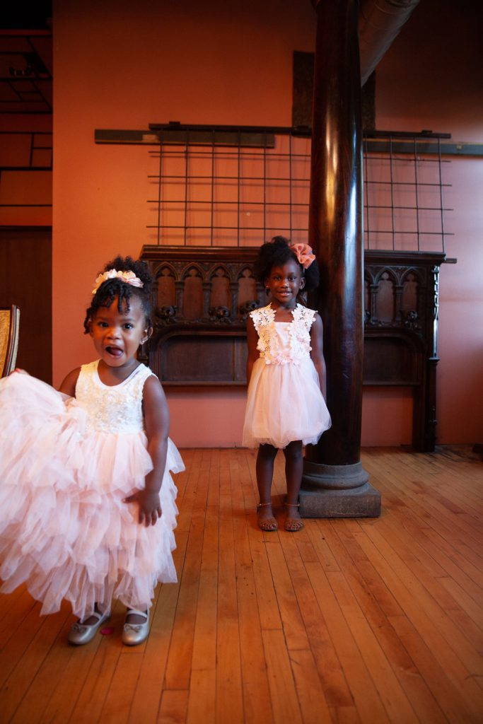 Flower girls in ruffles