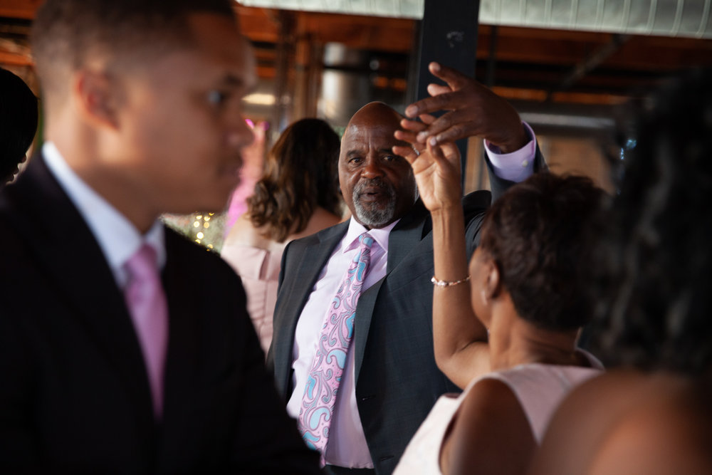 Dad spins mom at wedding