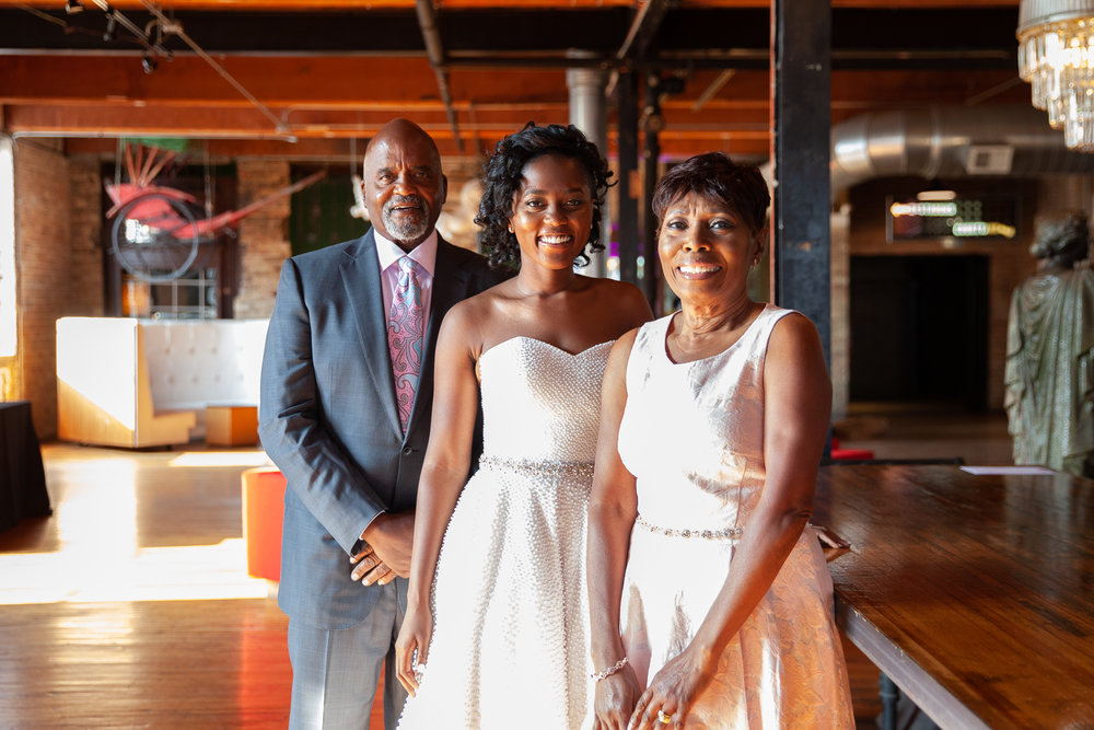 Parents show up for bride