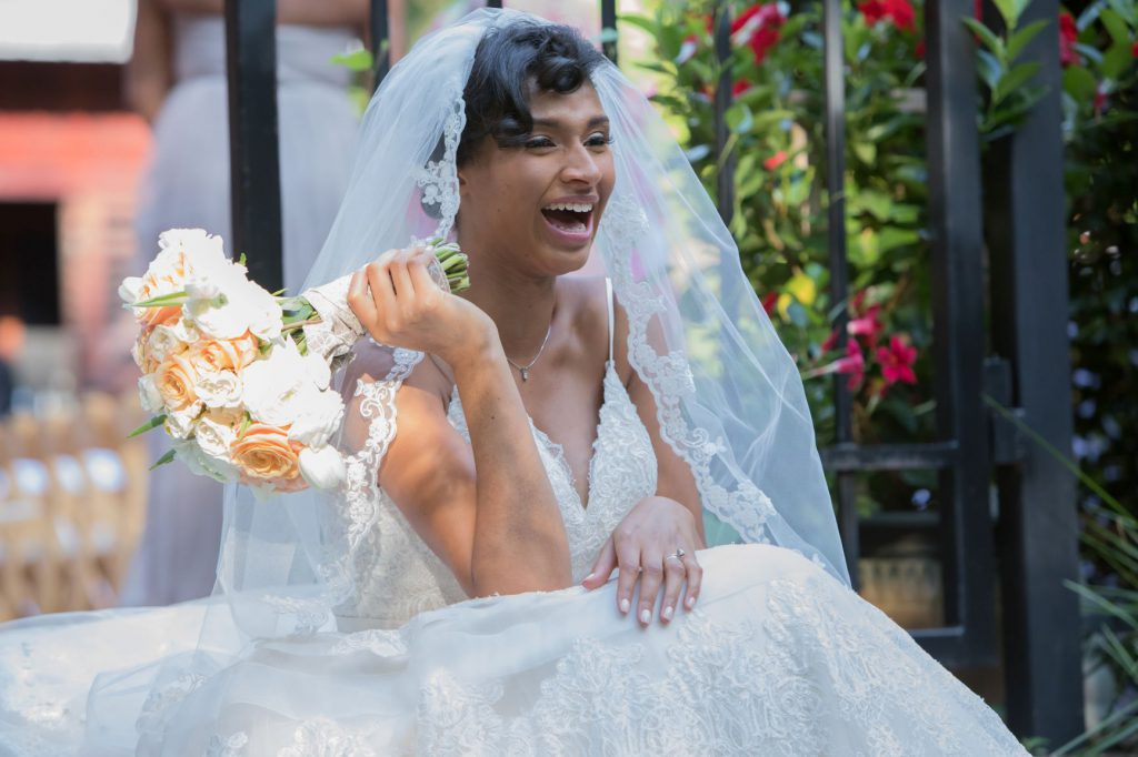 Dream wedding bride laughing