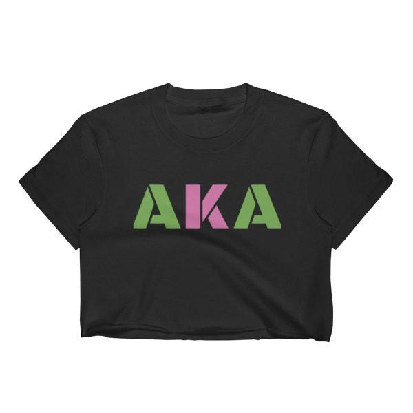 AKA crop top in black