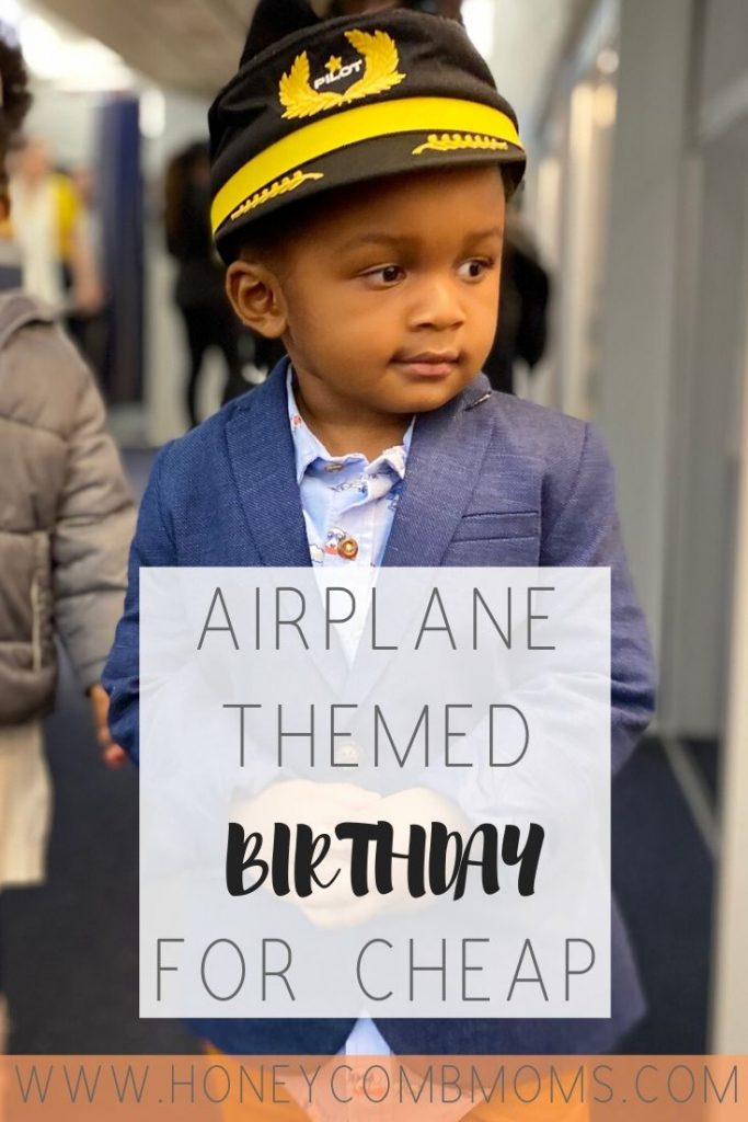 How to pull off airplane-themed birthday party for 2-year-old's birthday | Honeycomb Moms | Planning a birthday party for cheap can feel overwhelming, but not if you think like a 2-year-old and not a mom. Find tips for pulling off an airplane party any child would love. | Inexpensive birthday party | Toddler birthday party